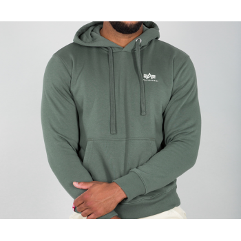 Basic Hoody Small Logo - vintage green