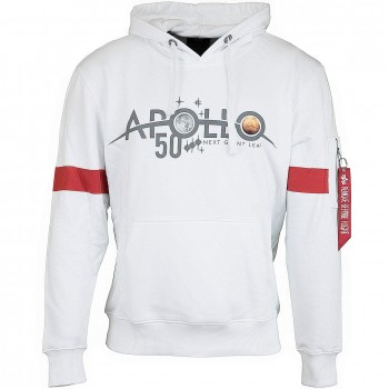 Apollo 50 Reflective Hoody - white