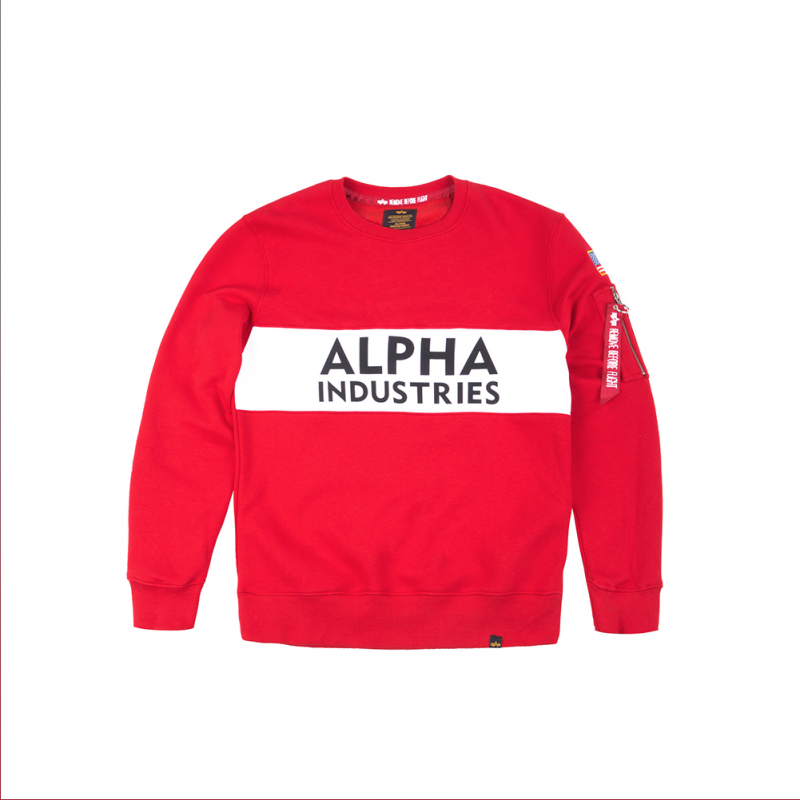 Alpha Inlay Sweater - speed red