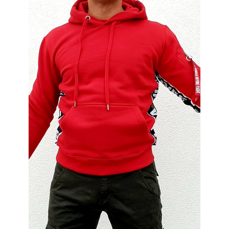 AI Inlay Hoody - speed red