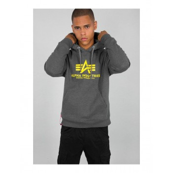 Basic Hoody - charcoal heather