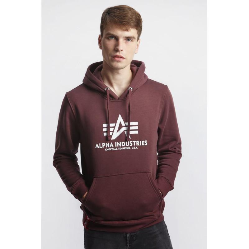 Basic Hoody - deep maroon