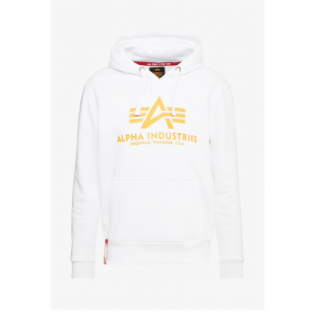 Basic Hoody - white/neon orange