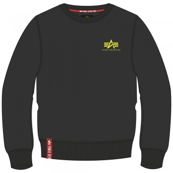 Basic Sweater Small Logo - black/neon yellow