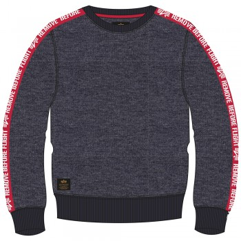 RBF Tape Sweater  - charcoal heather
