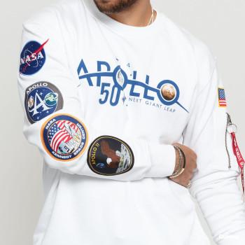 Apollo 50 Patch Sweater - white