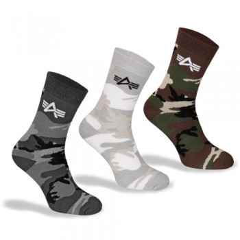Camo Socks - black camo