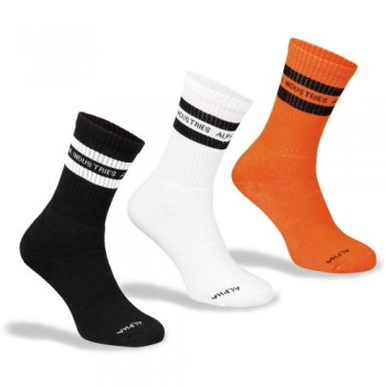 STRIPE SOCKS - orange