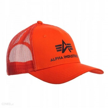 Basic Trucker Cap - flame orange
