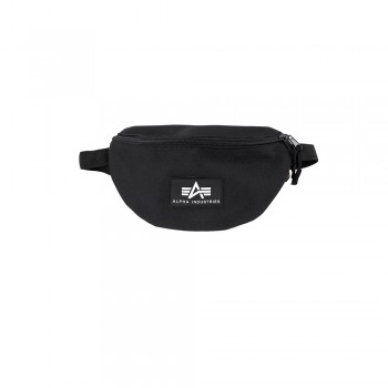 Rubber Print Waist Bag - black