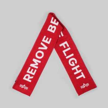 Remove Before Flight Scarf - red