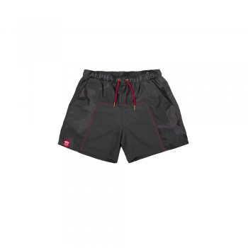 Camo Swim Short - black camo