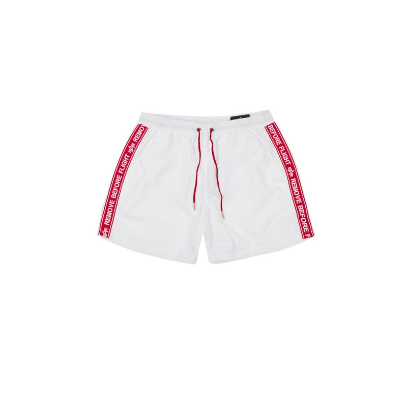 RBF Tape Swim Short - white