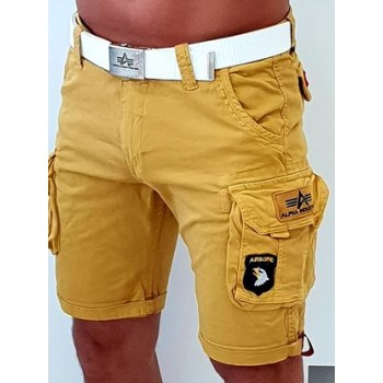CREW SHORT PATCH - wheat