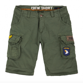 CREW SHORT PATCH - dark olive