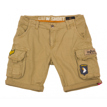 CREW SHORT PATCH - Sand