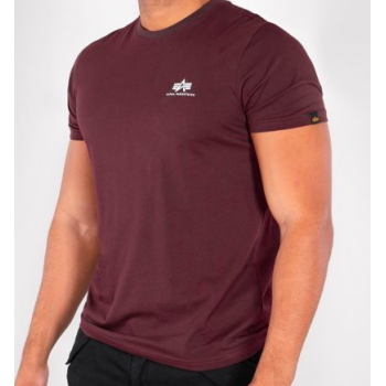 Basic T Small Logo - deep maroon