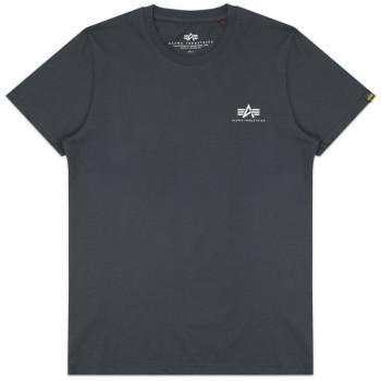 Basic T Small Logo - greyblack