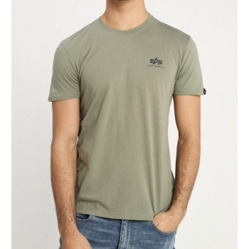 Basic T Small Logo - light olive