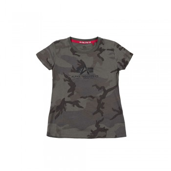 New Camo Basic T Woman - olive camo