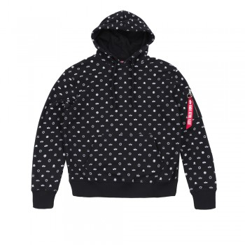 All Over Hoody - black