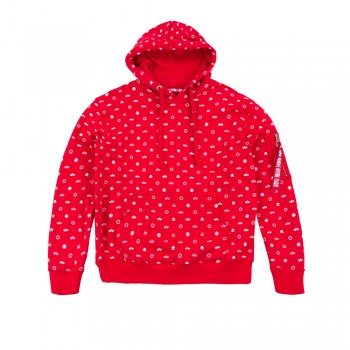 All Over Hoody - speed red
