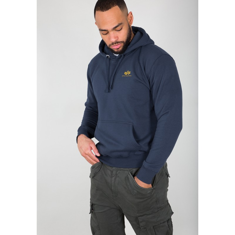 Basic Hoody Small Logo - new navy