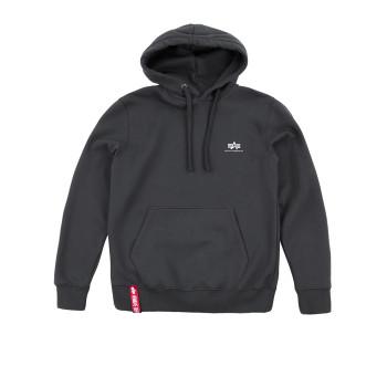 Basic Hoody Small Logo - greyblack