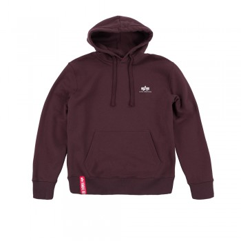Basic Hoody Small Logo - deep maroon