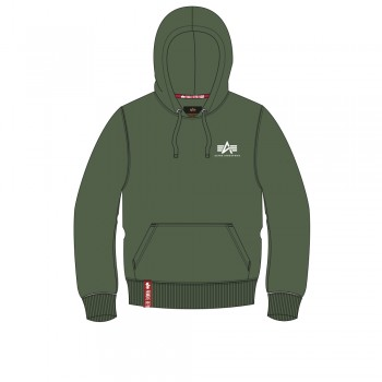 Basic Hoody Small Logo - dark green