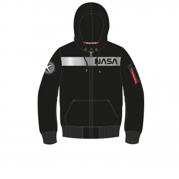 NASA RS Zip Hoody - black