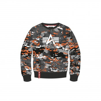 Urban Camo Sweater - black orange camo