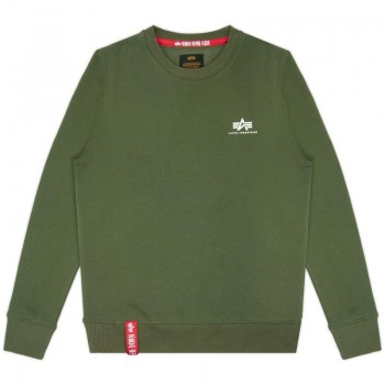 Basic Sweater Small Logo - dark green