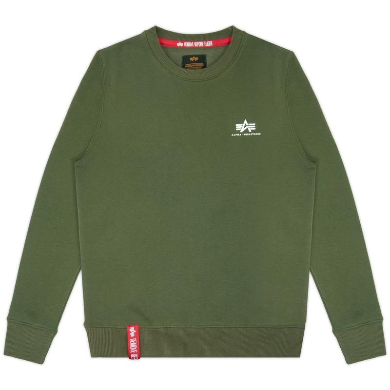 Basic Sweater Small Logo - dark green