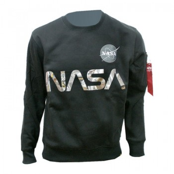 NASA Reflective Sweater - black/chrome