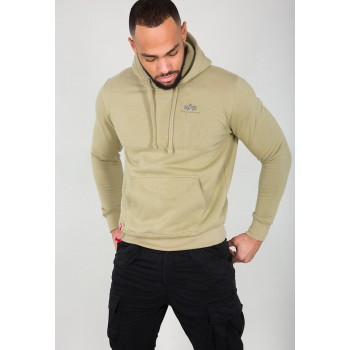 Basic Hoody Small Logo - light olive