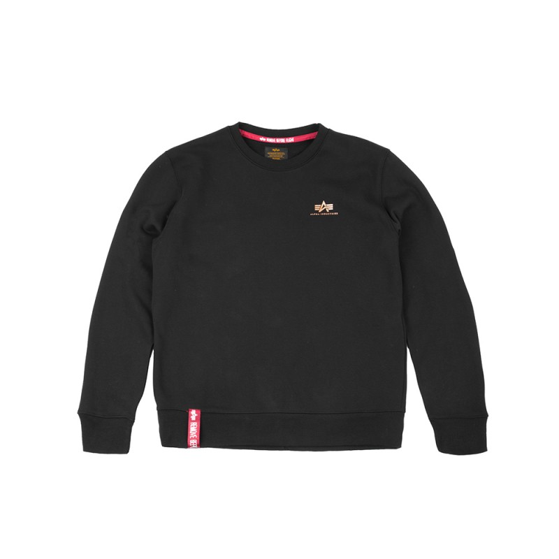 Basic Sweater Small Logo - black/gold