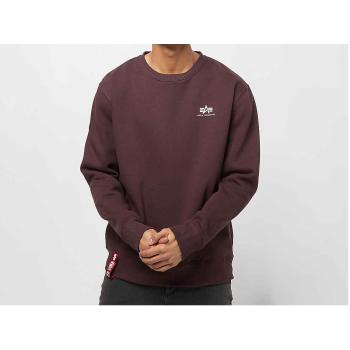 Basic Sweater Small Logo - deep maroon