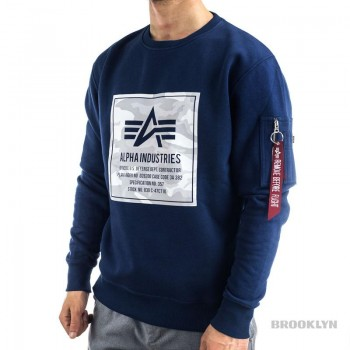 Camo Block Sweater - new navy