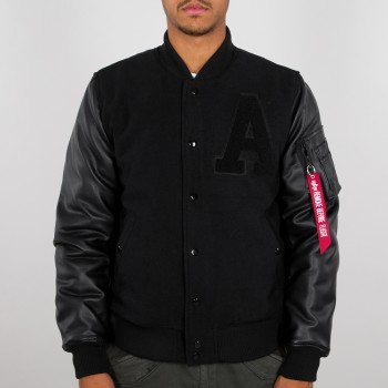 Alpha Authentic College Jacket - black