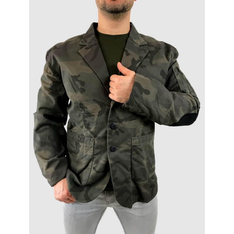 Army Suit Jacket - dark olive camo