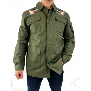 BDU Embroidery - olive