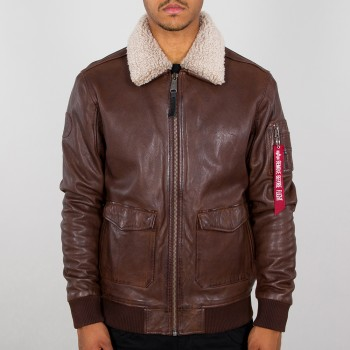 G1 Leather Jacket - barna