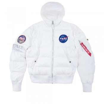 Hooded Puffer Apollo 11 FD - white