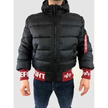 Hooded Puffer RBF Jacket - black