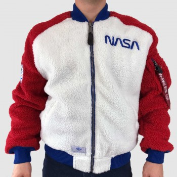 MA-1 Teddy NASA - white