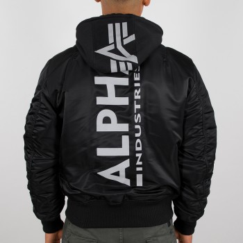 MA-1 ZH Backprint - black/reflective