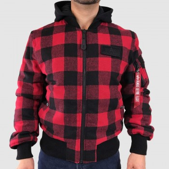 MA-1 ZH Plaid - speed red