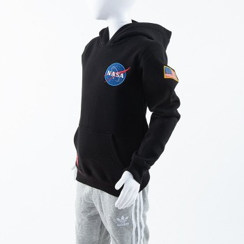 Space Shuttle Hoody Kids - black