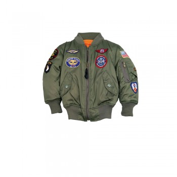 MA-1 Patch Youth - sage green